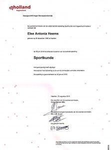 diploma sportkunde